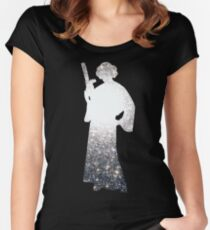 Space Princess Women's Fitted Scoop T-Shirt