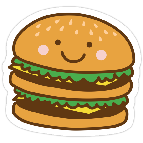 Quot Cute Hamburger Quot Stickers By Detourshirts Redbubble