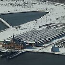 Aerial View, Snow View, Central Railroad of New Jersey Terminal, Liberty State Park, New Jersey by lenspiro