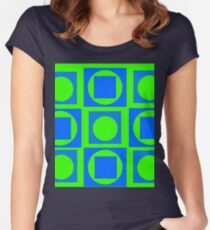 Green-Blue Mix Women's Fitted Scoop T-Shirt