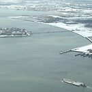 Aerial View, Snow View, Ellis Island, Liberty State Park by lenspiro