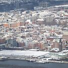 Aerial View, Snow View, Hoboken, New Jersey by lenspiro