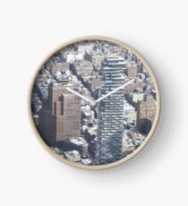 Aerial View, Snow View, Lower Manhattan, New York City Clock