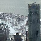 Aerial View, Snow View, Battery Park, Lower Manhattan, New York City by lenspiro