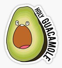 holy guacamole avocado -with text Sticker