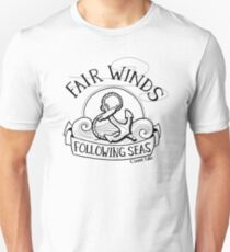 Fair Winds and Following Seas - Black  T-Shirt