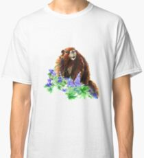 Marmot, Groundhog, Woodchuck,Watercolor Animal Classic T-Shirt