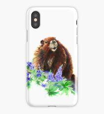 Marmot, Groundhog, Woodchuck,Watercolor Animal iPhone Case/Skin