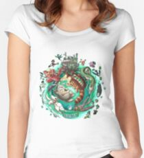 Ghibli Tribute Women's Fitted Scoop T-Shirt