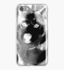 Black-White Husky iPhone Case/Skin