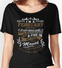 I'm a February woman shirt Women's Relaxed Fit T-Shirt