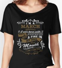 I'm a March woman shirt Women's Relaxed Fit T-Shirt