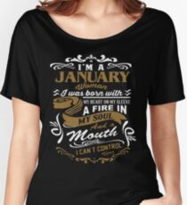 I'm a January woman shirt Women's Relaxed Fit T-Shirt