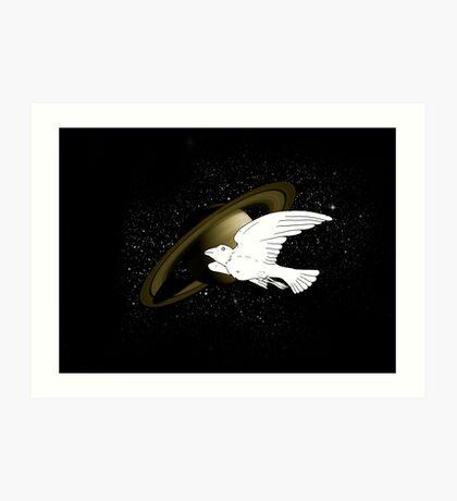 Bird in Spaaaaaaaaaaaaaaaaaaaaace Art Print