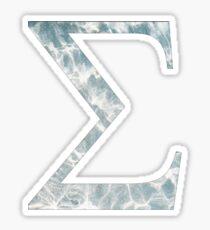 Sigma- Clear Ocean water Sticker