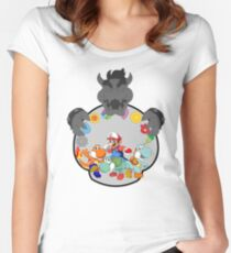 SUPER POKEMON BROS Women's Fitted Scoop T-Shirt