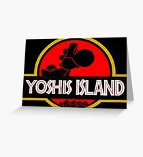 YOSHIS ISLAND V2 Greeting Card