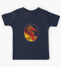 Ancient Red Dragon Kids Clothes