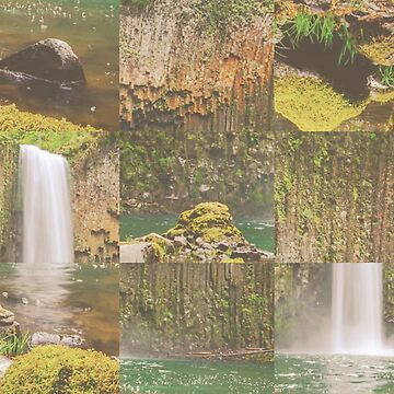 Waterfall Nature Abstract Photo Collage by devonguinn