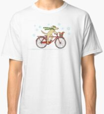 Cycling Dog and Squirrel Holiday Classic T-Shirt