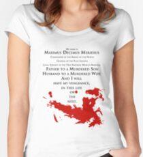 Gladiator - My name is Maximus Decimus Meridius... Women's Fitted Scoop T-Shirt