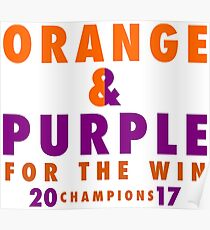 CLEMSON TIGERS FOR THE WIN Poster