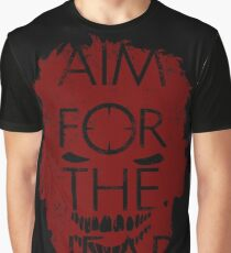 AIM FOR THE HEAD - Zombie advice Graphic T-Shirt