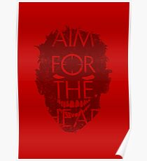 AIM FOR THE HEAD - Zombie advice Poster