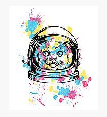 cute kitty kitten cat astronaut  Photographic Print