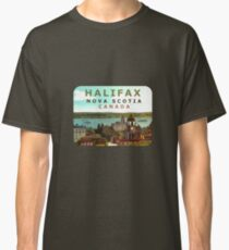 Halifax Nova Scotia Canada Vintage Travel Decal Classic T-Shirt