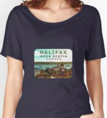 Halifax Nova Scotia Canada Vintage Travel Decal Women's Relaxed Fit T-Shirt