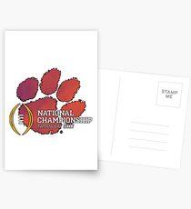 Clemson Tigers 2017 National Championship  Postcards
