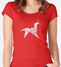Blade Runner / Origami Unicorn Women's Fitted Scoop T-Shirt