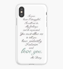 Mr Darcy to Miss Bennet iPhone Case/Skin