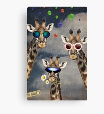 Animal Collection -- Lets Take A Selfie Canvas Print