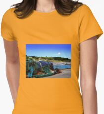 Harbour Life in Lyme Regis Womens Fitted T-Shirt