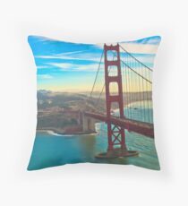 High SF Rouge Throw Pillow