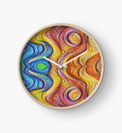 Mask #DeepDream #Art Clock