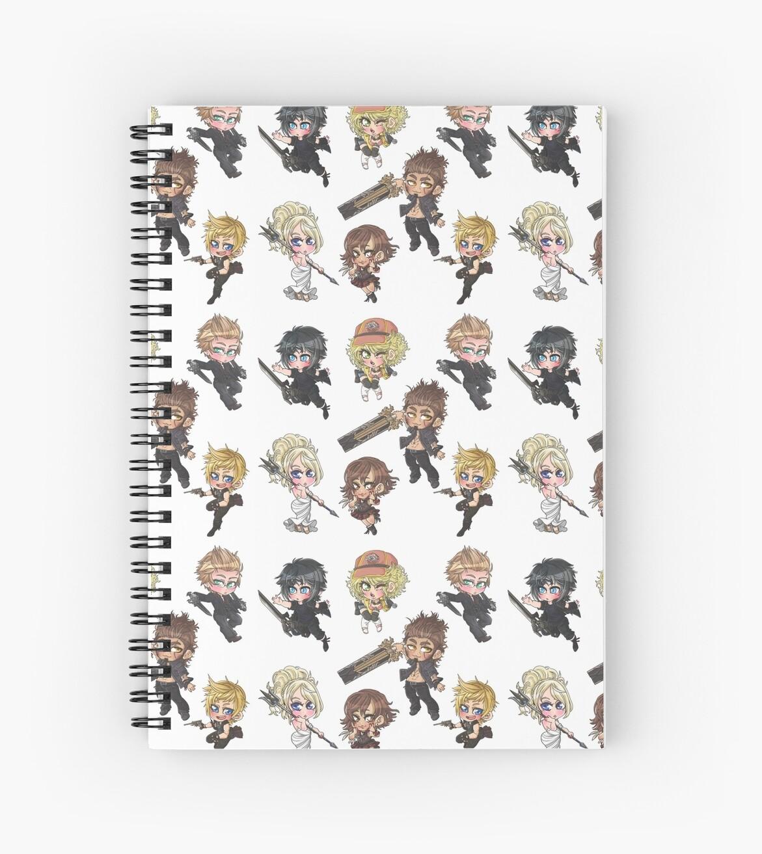 """Final Fantasy XV"" Spiral Notebooks By RaelcsART"