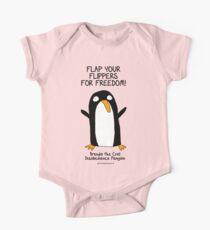 Brenda the Civil Disobedience Penguin One Piece - Short Sleeve