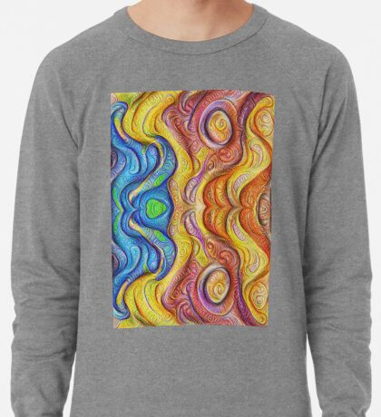 Mask #DeepDream #Art Lightweight Sweatshirt