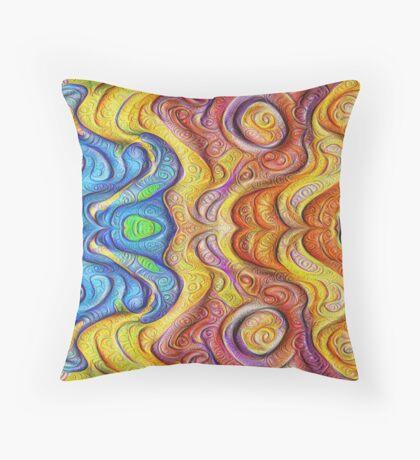 Mask #DeepDream #Art Throw Pillow