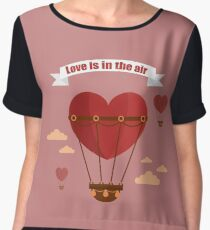 Happy Valentine's Day Greeting Cards. Air Baloon, Present with Love, Cupcake and Whale.  Chiffon Top