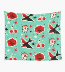 Swallow the cherry Wall Tapestry