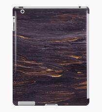 Black oil unique texture iPad Case/Skin