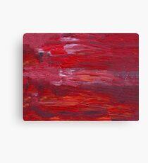 Red oil  unique texture Canvas Print