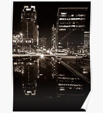 Night Time City Lights Poster