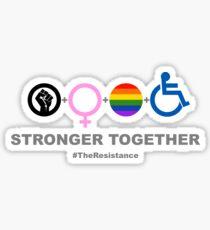 Stärker zusammen Sticker