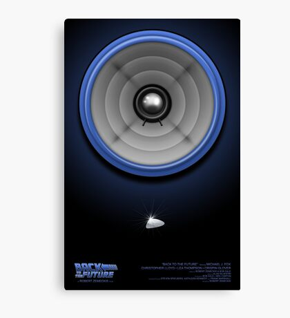 Back to the Future Speaker Canvas Print