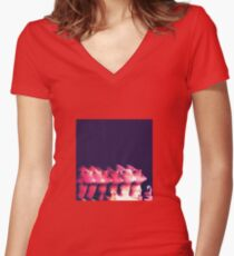 80s icons Women's Fitted V-Neck T-Shirt
